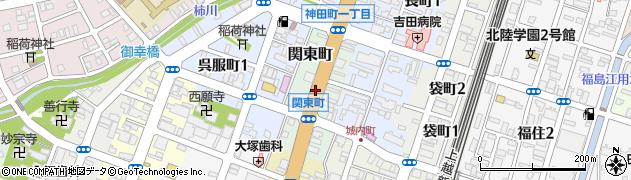 新潟県長岡市関東町周辺の地図