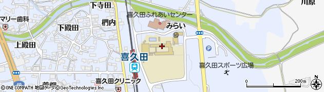 福島県郡山市喜久田町堀之内(上馬面)周辺の地図