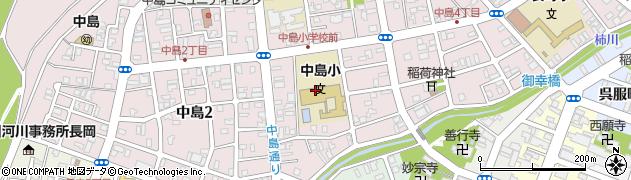 新潟県長岡市中島周辺の地図
