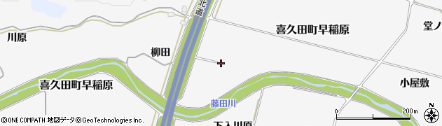 福島県郡山市喜久田町早稲原(梅田)周辺の地図