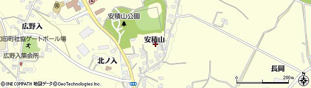 福島県郡山市日和田町(安積山)周辺の地図