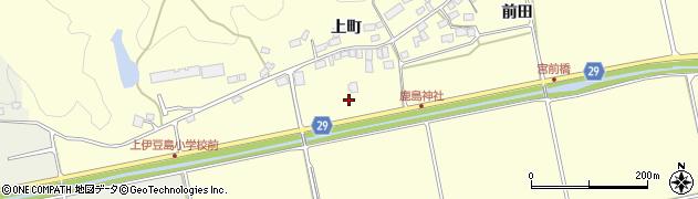 福島県郡山市熱海町上伊豆島(中川原)周辺の地図