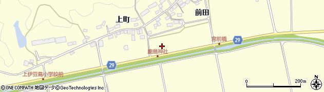 福島県郡山市熱海町上伊豆島(寺田)周辺の地図