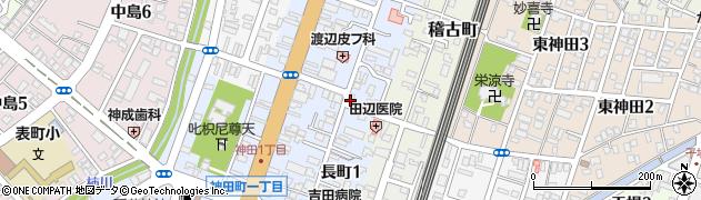 新潟県長岡市長町周辺の地図