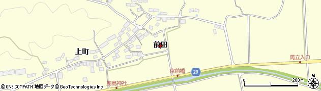 福島県郡山市熱海町上伊豆島(前田)周辺の地図