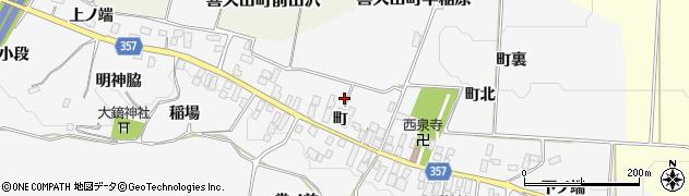 福島県郡山市喜久田町早稲原(町)周辺の地図