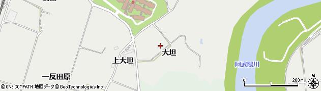福島県郡山市日和田町梅沢(大坦)周辺の地図