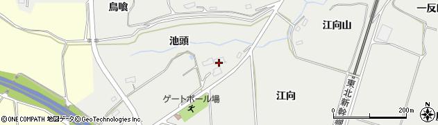 福島県郡山市日和田町梅沢(池頭)周辺の地図