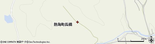 福島県郡山市熱海町長橋(蟹沢)周辺の地図