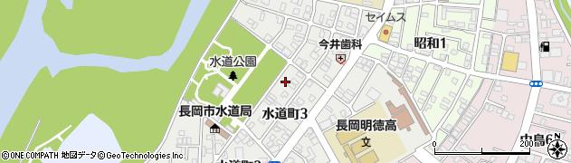 新潟県長岡市水道町周辺の地図