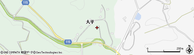 福島県郡山市西田町三町目(大平)周辺の地図