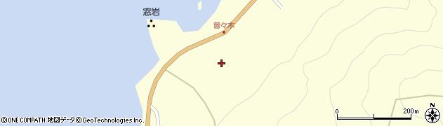 石川県輪島市町野町(曽々木ク)周辺の地図