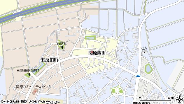 〒940-2037 新潟県長岡市関原西町の地図