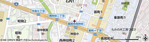 新潟県長岡市西神田町周辺の地図