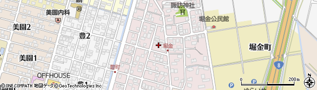 新潟県長岡市堀金周辺の地図