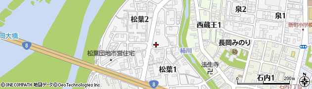 新潟県長岡市松葉周辺の地図