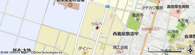 ツルハドラッグ 会津高田店周辺の地図