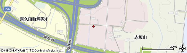 福島県郡山市喜久田町赤坂周辺の地図