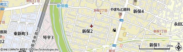 新潟県長岡市新保周辺の地図
