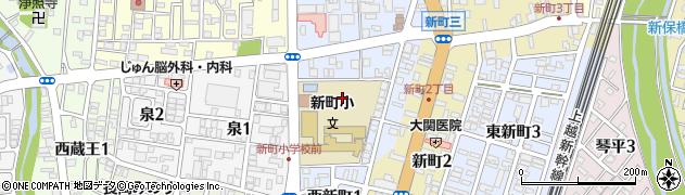 新潟県長岡市西新町周辺の地図
