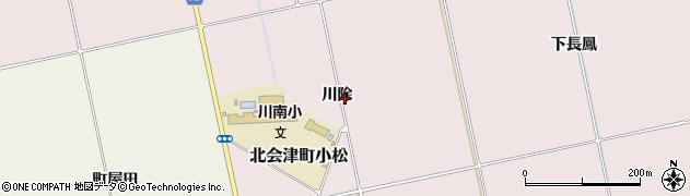 福島県会津若松市北会津町小松(川除)周辺の地図
