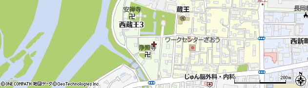 新潟県長岡市西蔵王周辺の地図