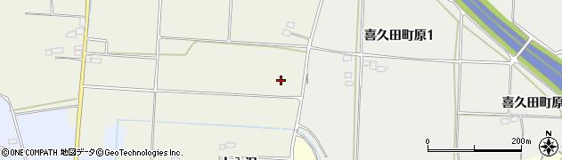 福島県郡山市喜久田町前田沢(中西原)周辺の地図