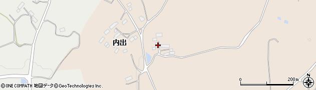 福島県郡山市西田町土棚(狢内)周辺の地図