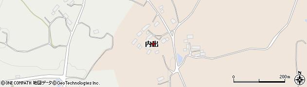 福島県郡山市西田町土棚(内出)周辺の地図