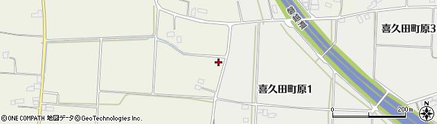 福島県郡山市喜久田町前田沢(原南)周辺の地図