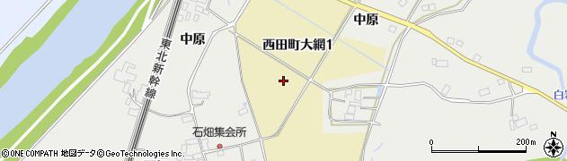 福島県郡山市西田町大網周辺の地図