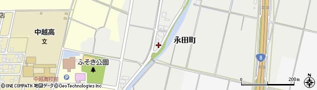 新潟県長岡市永田町周辺の地図