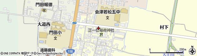 福島県会津若松市門田町大字御山(井手堺乙)周辺の地図