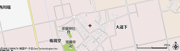 福島県会津若松市北会津町小松周辺の地図