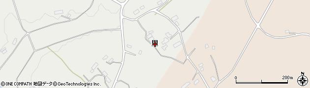 福島県郡山市西田町鬼生田(里)周辺の地図