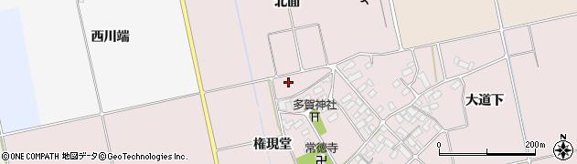 福島県会津若松市北会津町小松(権現堂)周辺の地図