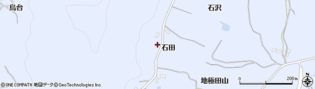 福島県郡山市日和田町高倉(石田)周辺の地図