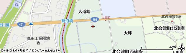 福島県会津若松市北会津町西後庵(鶴沼根)周辺の地図