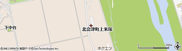 福島県会津若松市北会津町上米塚(雷田)周辺の地図