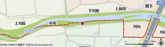 福島県郡山市喜久田町前田沢(堰河原)周辺の地図