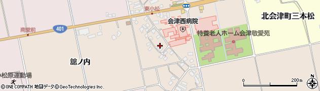 福島県会津若松市北会津町東小松周辺の地図