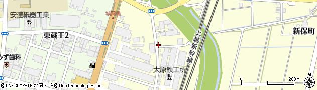 新潟県長岡市城岡周辺の地図