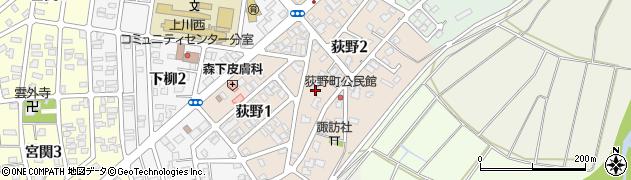 新潟県長岡市荻野周辺の地図