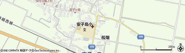 福島県郡山市熱海町安子島(桜畑)周辺の地図