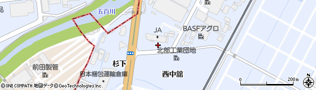 福島県郡山市日和田町高倉(西中舘)周辺の地図