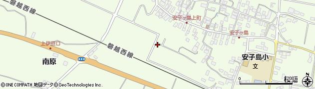 福島県郡山市熱海町安子島(南町)周辺の地図