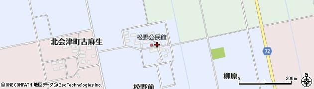 福島県会津若松市北会津町松野周辺の地図