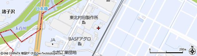福島県郡山市日和田町高倉(上中道)周辺の地図