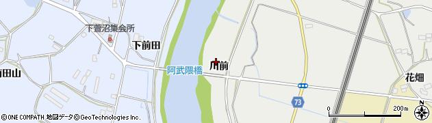福島県郡山市西田町鬼生田(川前)周辺の地図