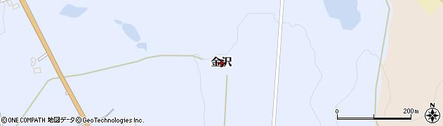 新潟県長岡市金沢周辺の地図
